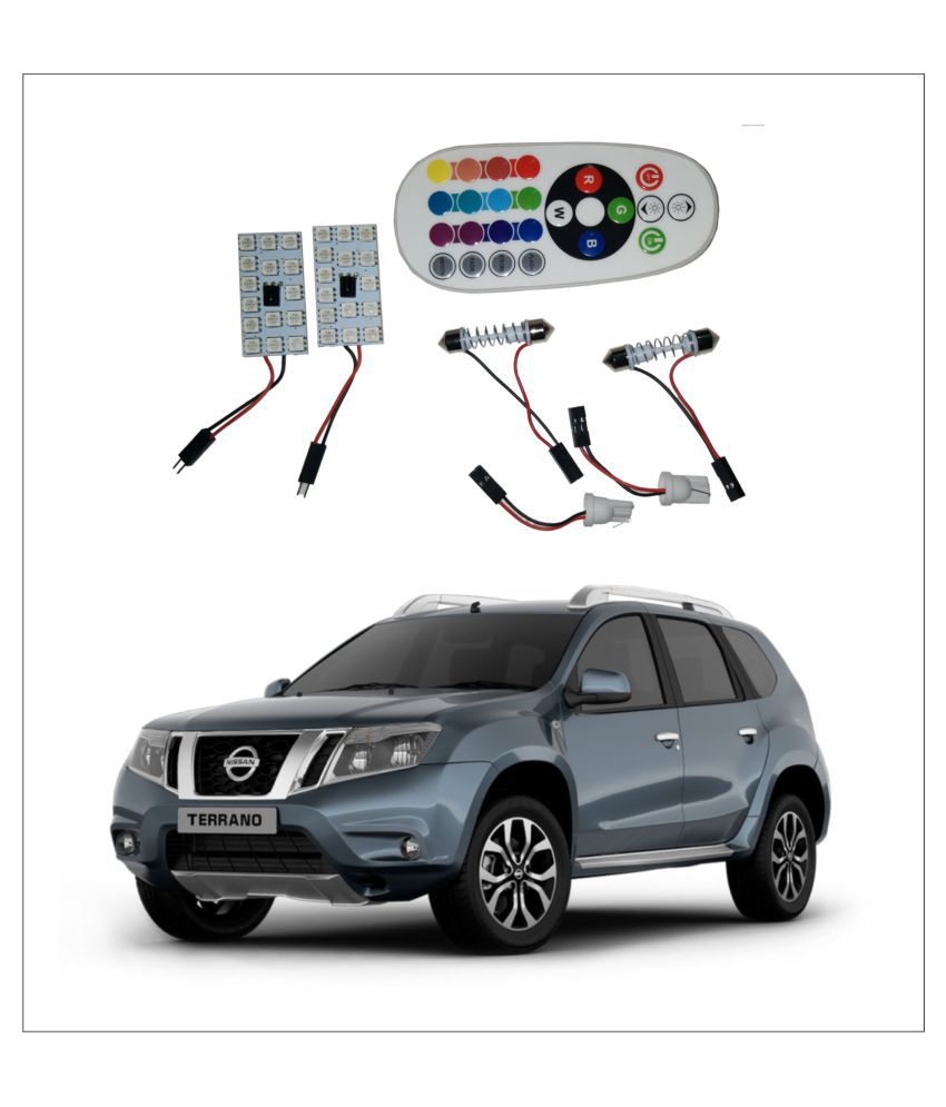 Trigcars Nissan Terrano 2X16 Colors Rgb Bright 5050 Led Car Roof Dome Light Festoon + T10 Ir Remote + Free Bluetooth