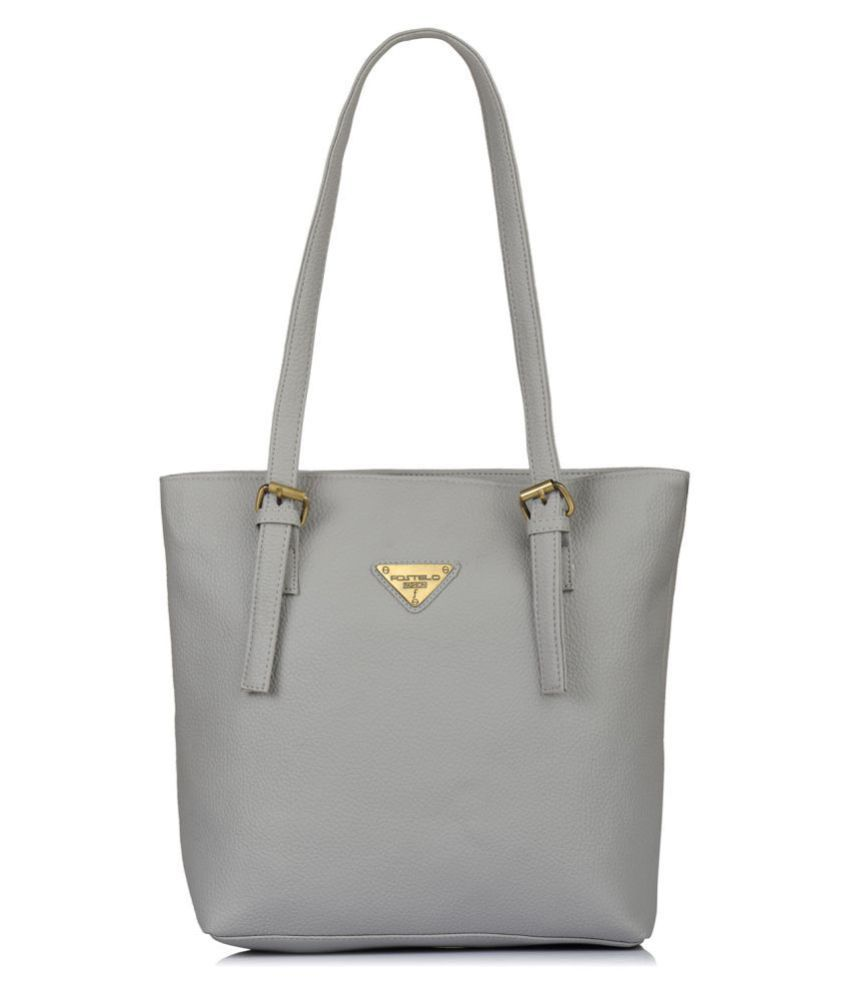Fostelo Gray P.U. Shoulder Bag