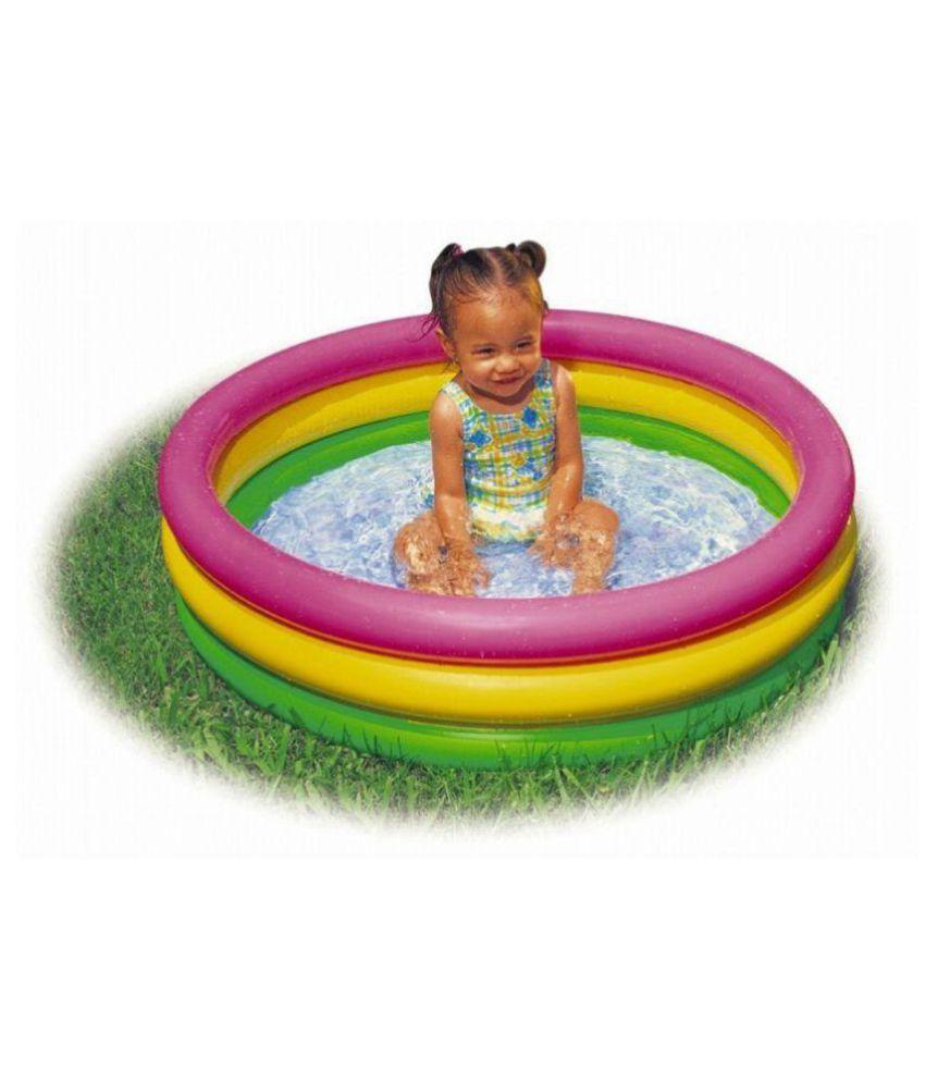 Skyup 2feet Round kids Swimming Bath Tub (Pink,Green,Yellow)