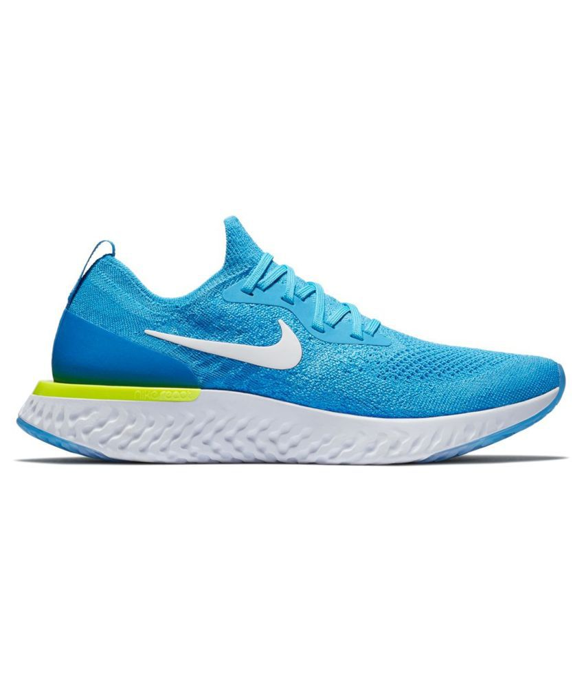 big sale 31751 b22a9 Nike EPIC REACT FLYKNIT MOSCO SKY/NEON Blue Running Shoes ...