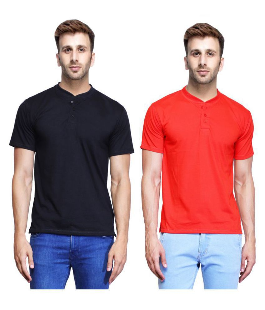 X-CROSS Multi Half Sleeve T-Shirt Pack of 2
