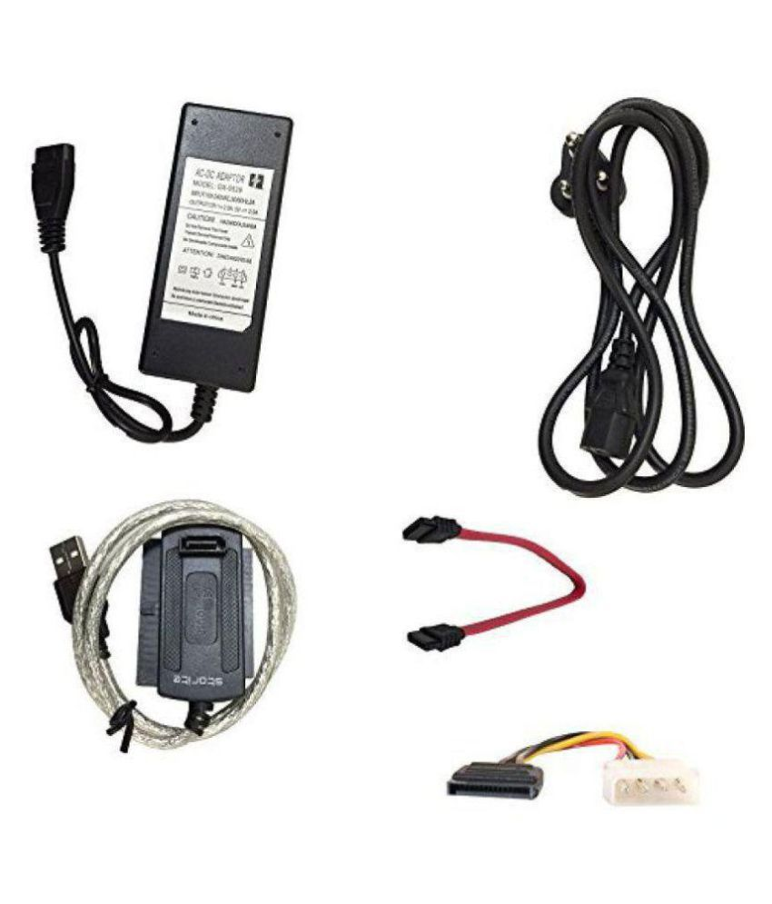 Ever Forever SATA/IDE to USB 2.0 Adapter With Power Supply Supports 2.5 Inch, 3.5 Inch, 5.25 Inch Hard Disk Drives
