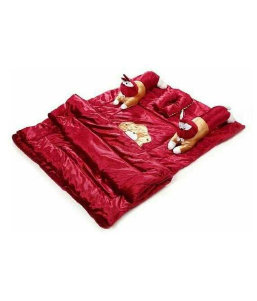 HomeStore-YEP Maroon Velvet Sleeping Mat ( 90 cm × 70 cm)