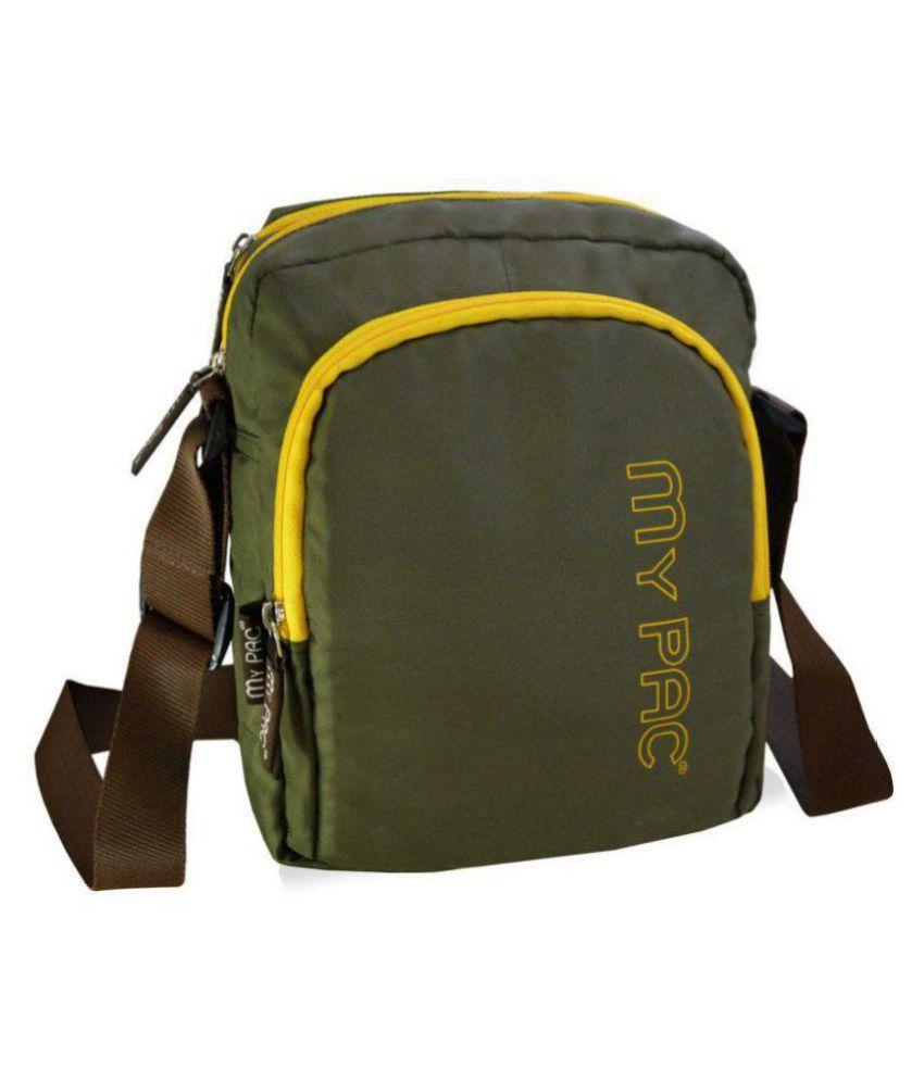 My Pac DB C11582 Khaki Polyester Casual Messenger Bag