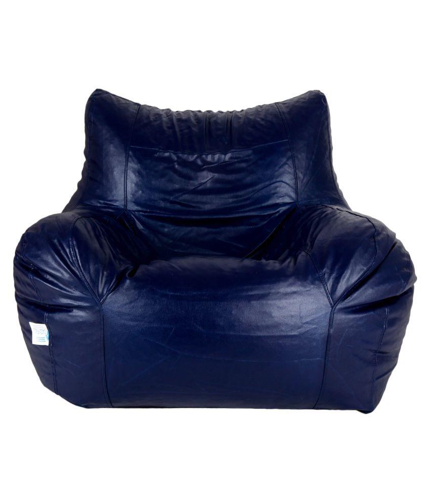 Amazing Gunj Jumbo Bean Bag Chair Cover Without Beans N Blue Creativecarmelina Interior Chair Design Creativecarmelinacom