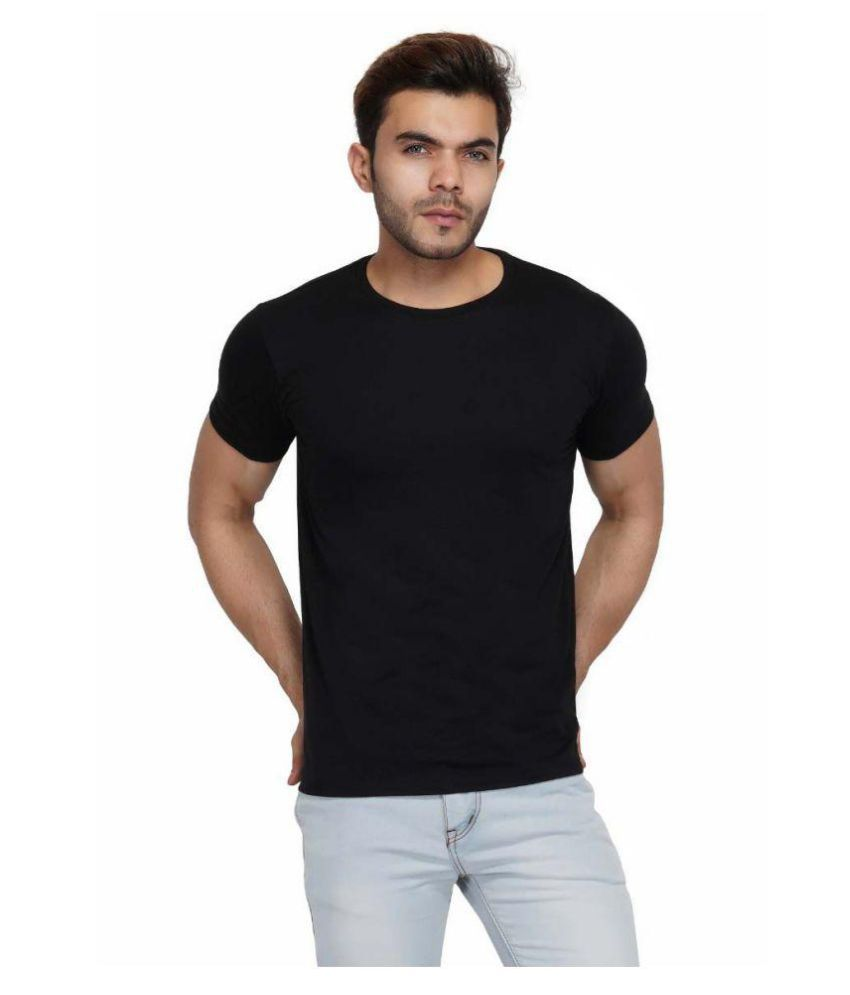 Urban Age Clothing Co. Black Half Sleeve T-Shirt Pack of 1