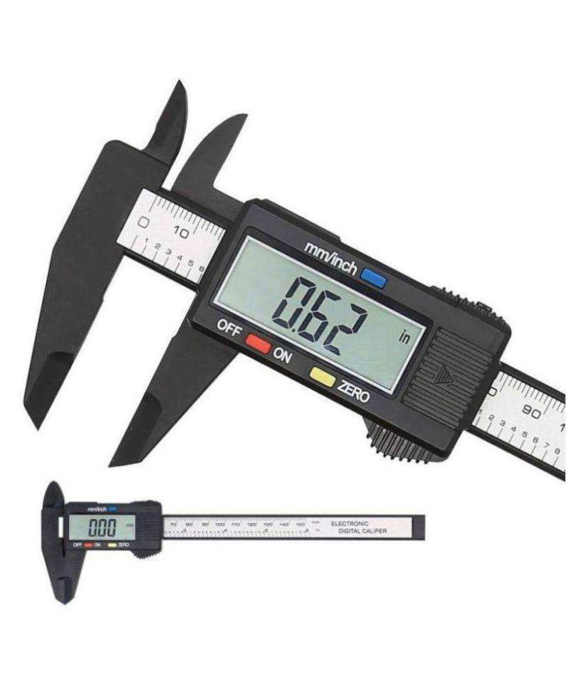 0-6 Inch/0-150 mm Carbon Fiber Plastic LCD Digital Electronic Vernier Caliper Gauge Micrometer