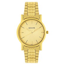 Aria 7987YM06 Champagne Dial Golden Stainless Steel Strap Watch