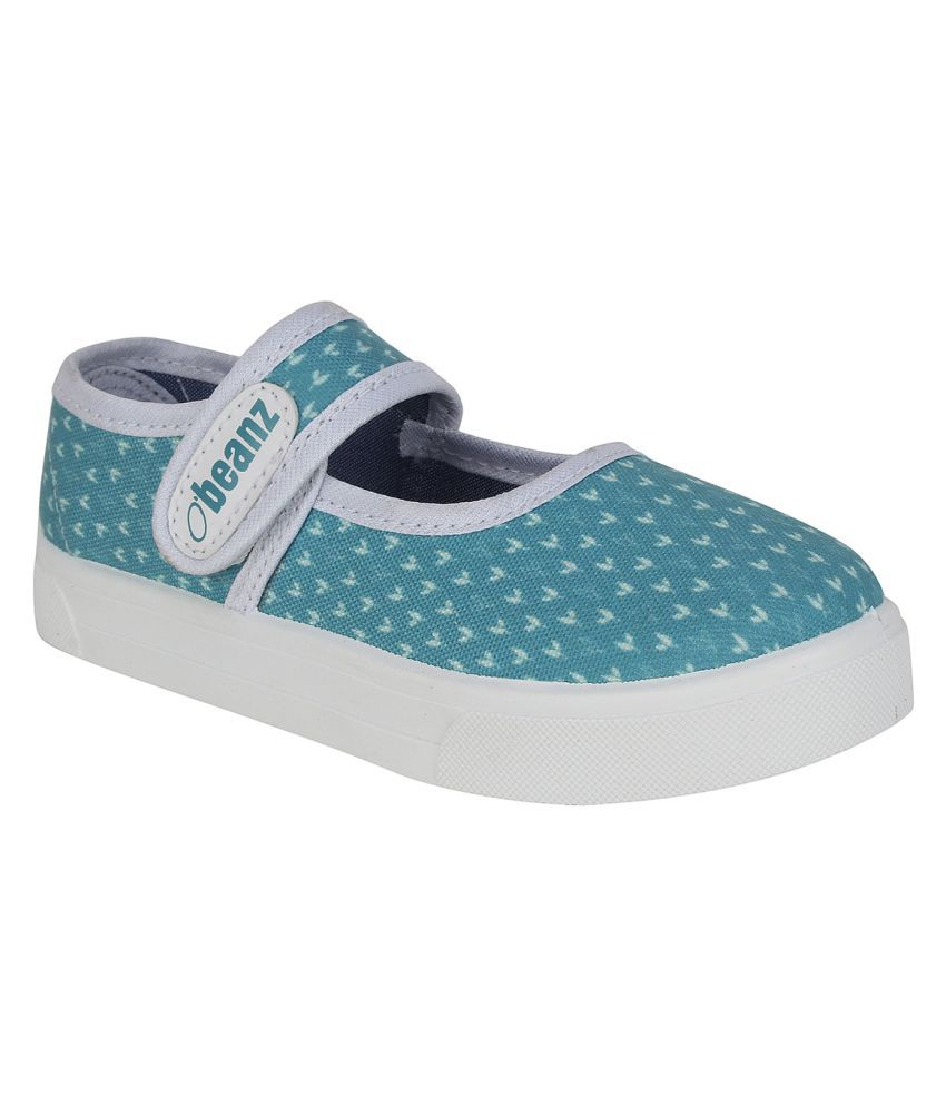 Beanz Blue Smart Casual Shoes For Girls