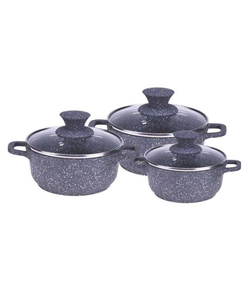 Wonderchef Casserole set Granite Die Cast   3 Pcs