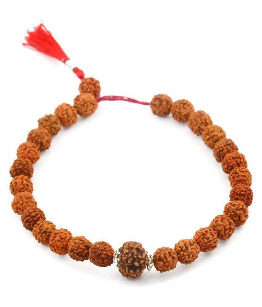 Certified 5 Mukhi Natural Rudraksha Bracelet