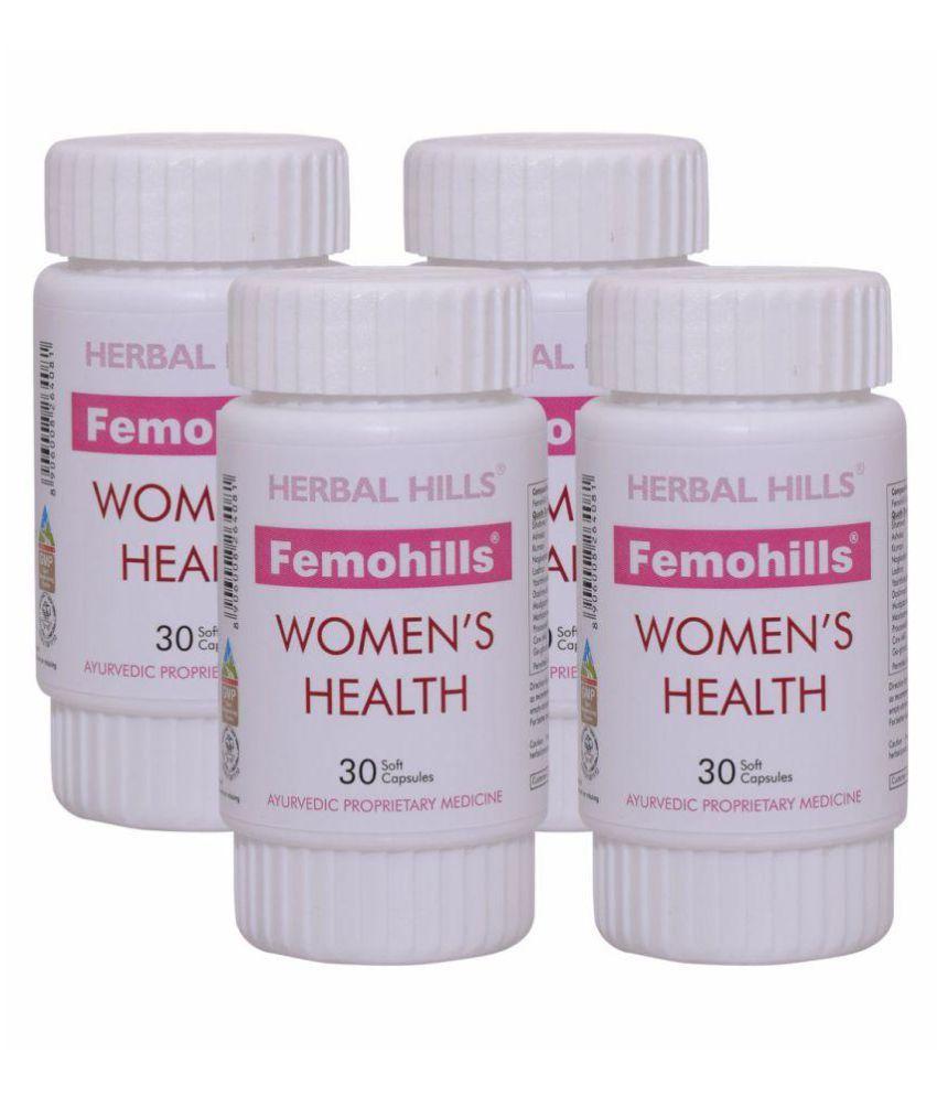 Herbal Hills Femohills 30 Capsule - Pack of 4 Capsule 500 mg