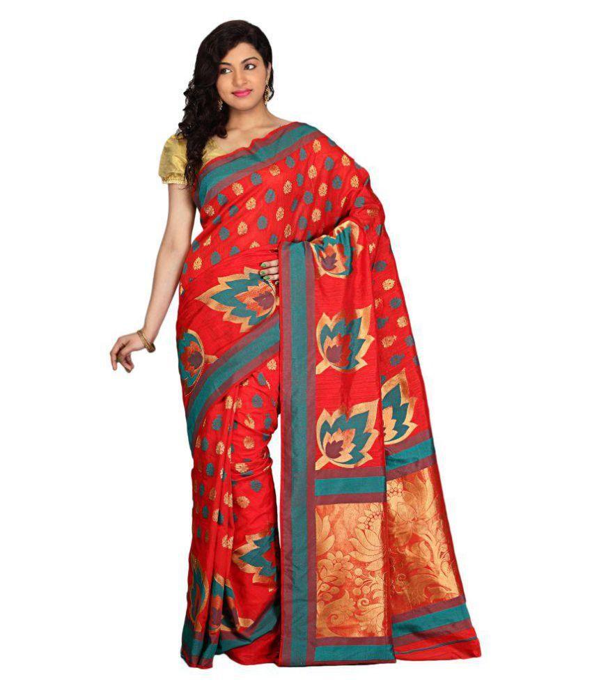 Radcart Red Art Silk Saree