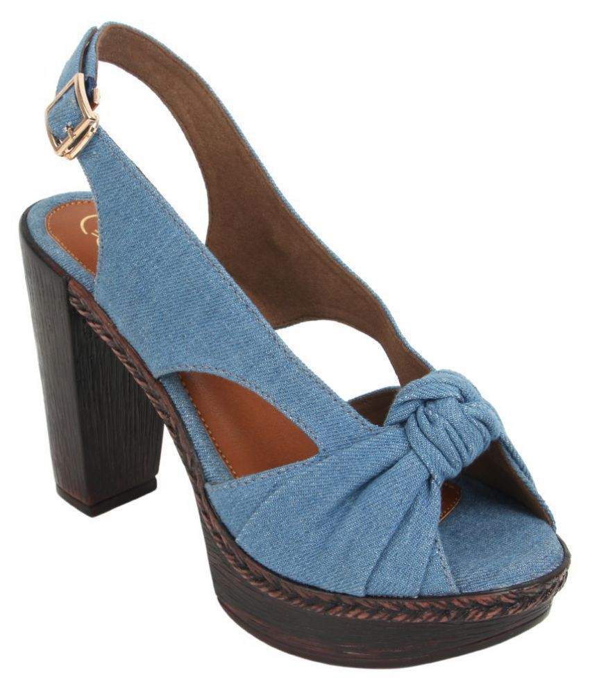 Catwalk Blue Block Heels
