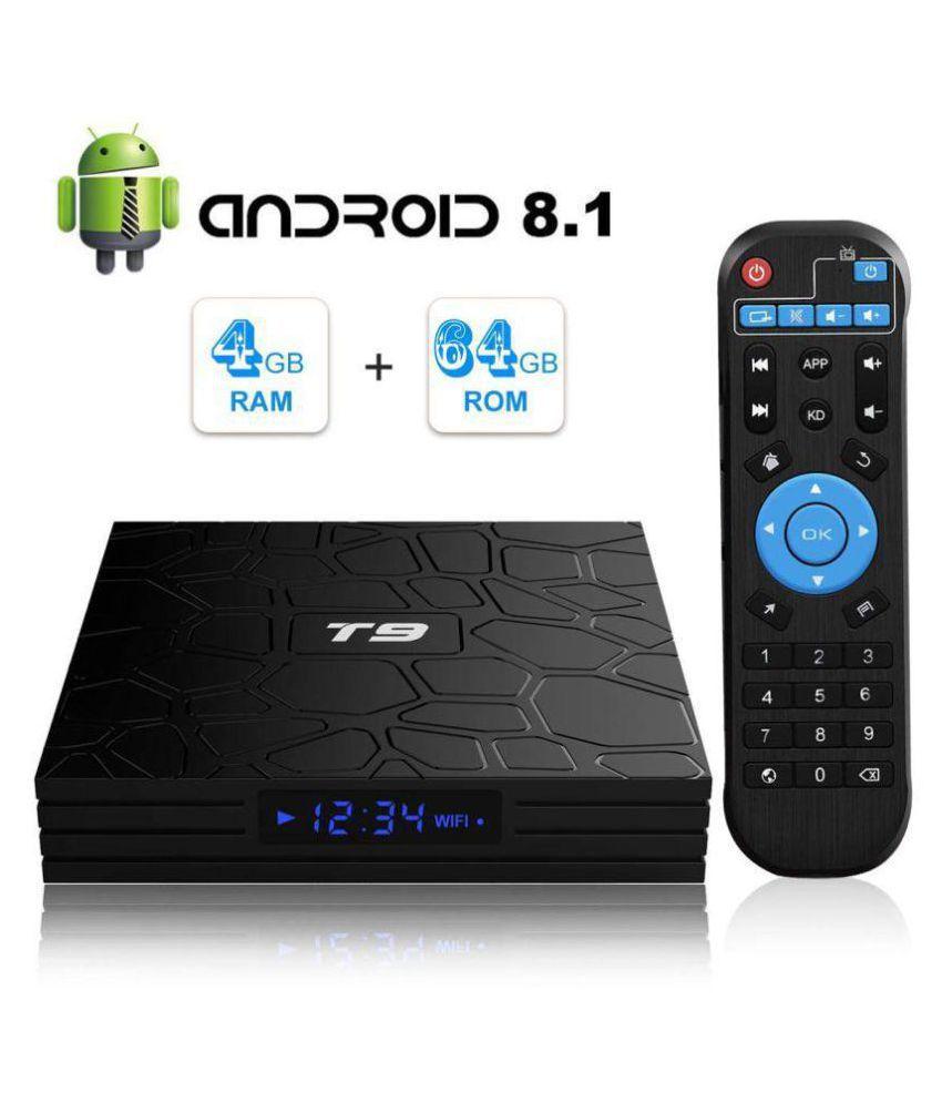 Profitech T9 RK3328 Android 8 1 TV Box 4GB RAM 64GB ROM BT4 Streaming Media  Player