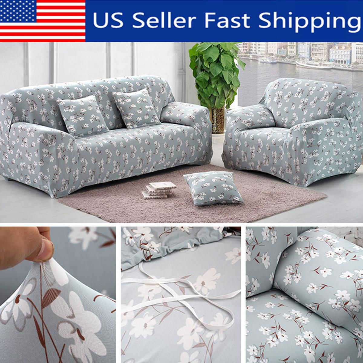 Fantastic 1 2 3 4 Seat Sofa Slipcover Soft Stretch Couch Cover Gmtry Best Dining Table And Chair Ideas Images Gmtryco
