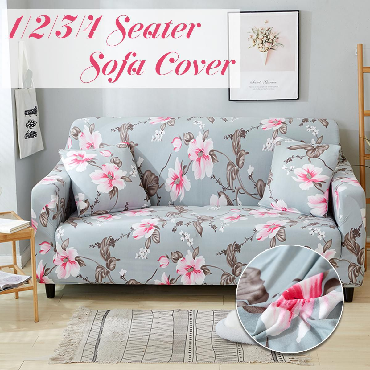 Pleasant 1 2 3 4 Seater Sofa Cover Chair Couch Stretch Elastic Andrewgaddart Wooden Chair Designs For Living Room Andrewgaddartcom