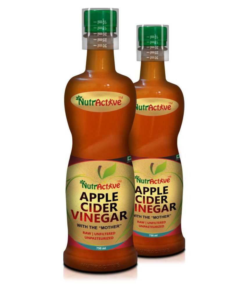 NutrActive Apple Cider Vinegar with Mother | Raw & Unfiltered 1500 ml Unflavoured Pack of 2