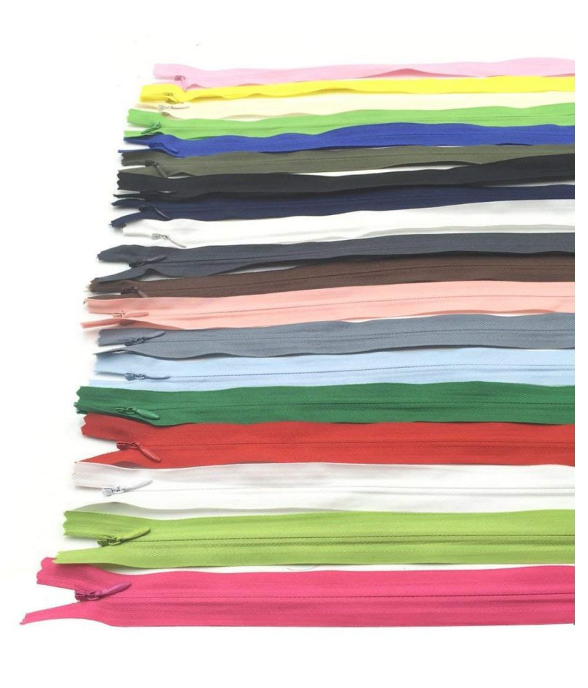 DIY Crafts 16 Inch Nylon Invisible Zippers for Tailor Sewer Sewing(Pack of 40pcs)