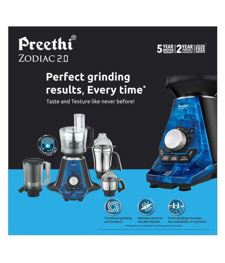 ... Preethi Zodiac 2.0 MG235 750 Watt 4 Jar Juicer Mixer Grinder ...