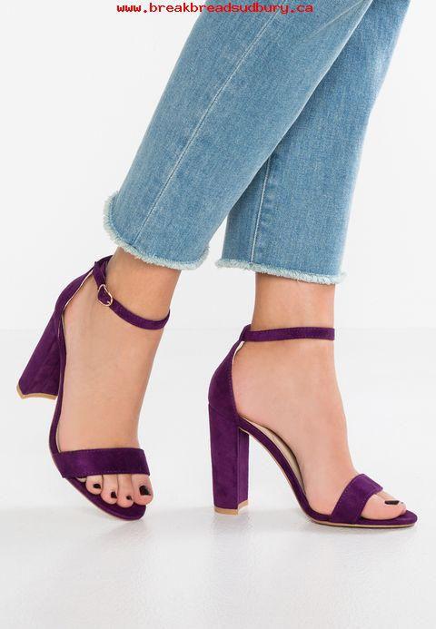 585e895aced SHOFIEE Purple Block Heels Ankle Strap Trendy sandal
