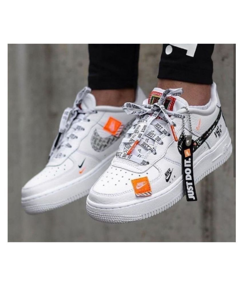 Nike Air Force Just Do It White Running Shoes