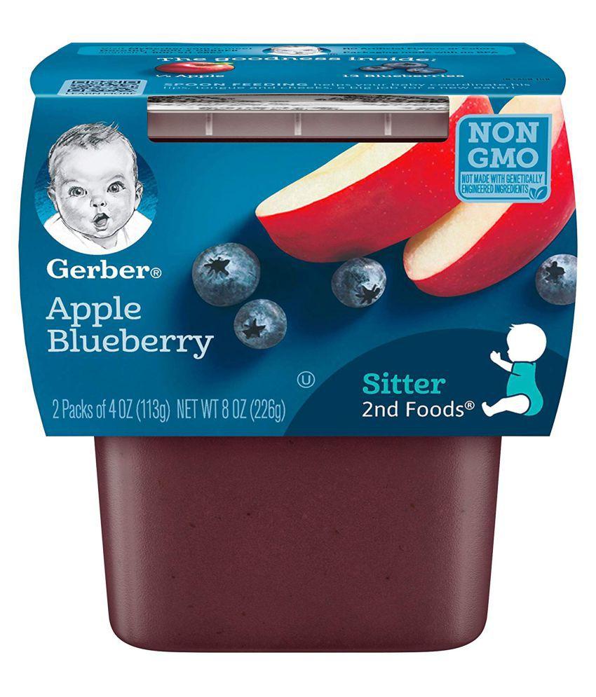 Gerber Apple Blueberry Snack Foods for Under 6 Months ( 678 gm ) Pack of 3