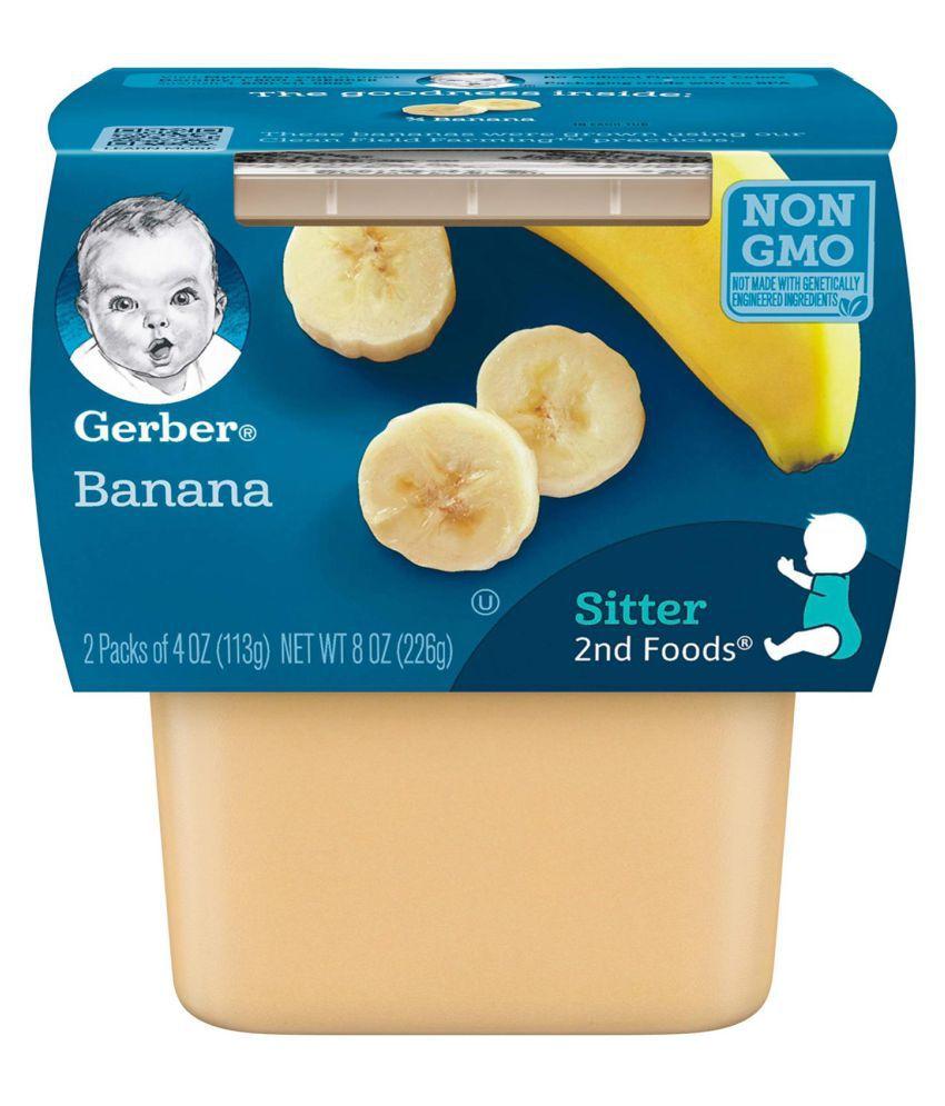 Gerber Bananas Snack Foods for Under 6 Months ( 452 gm ) Pack of 2