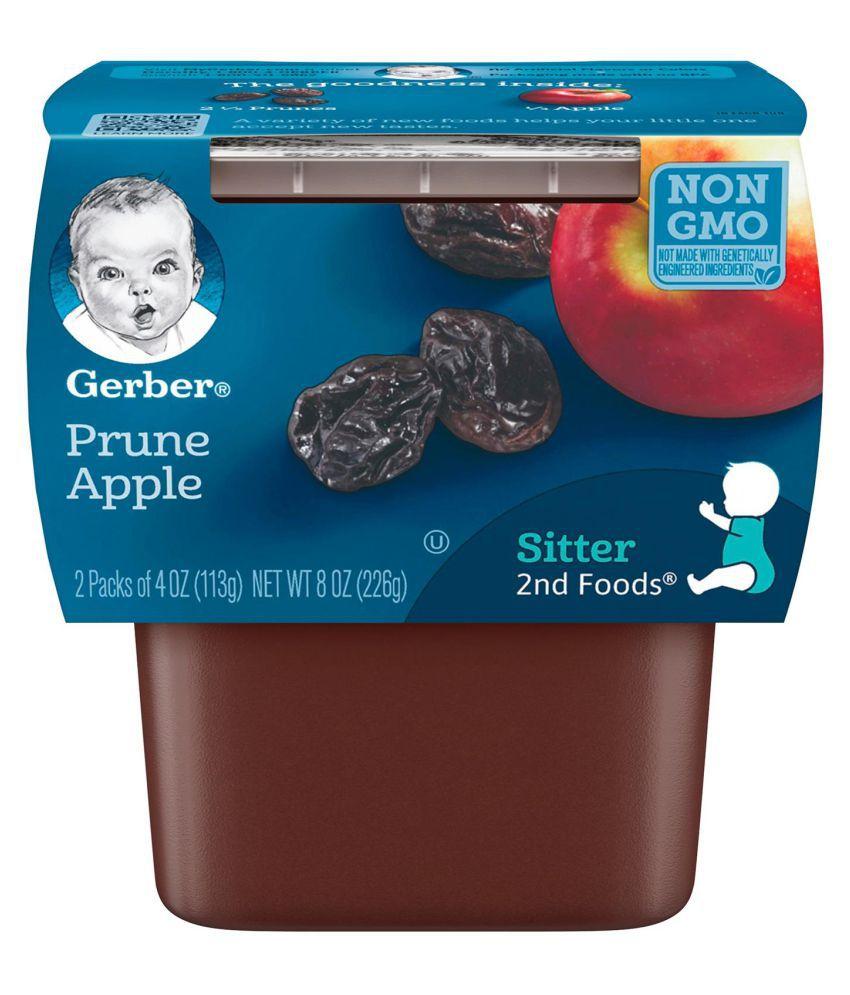 Gerber Prunes with Apples Snack Foods for Under 6 Months ( 226 gm )