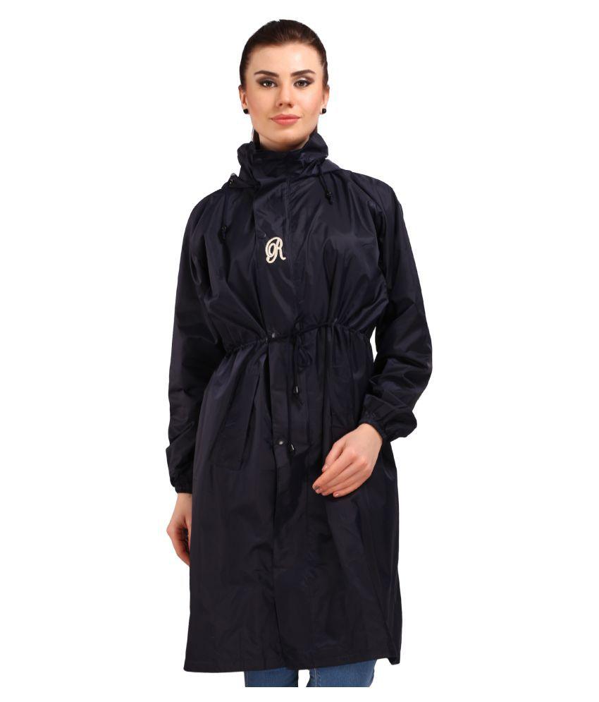 Goodluck Polyester Long Raincoat - Black