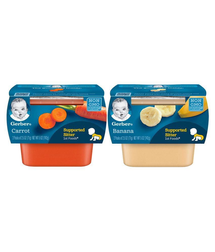 Gerber Bananas + Carrots Snack Foods for 12 months + ( 284 gm ) Pack of 2