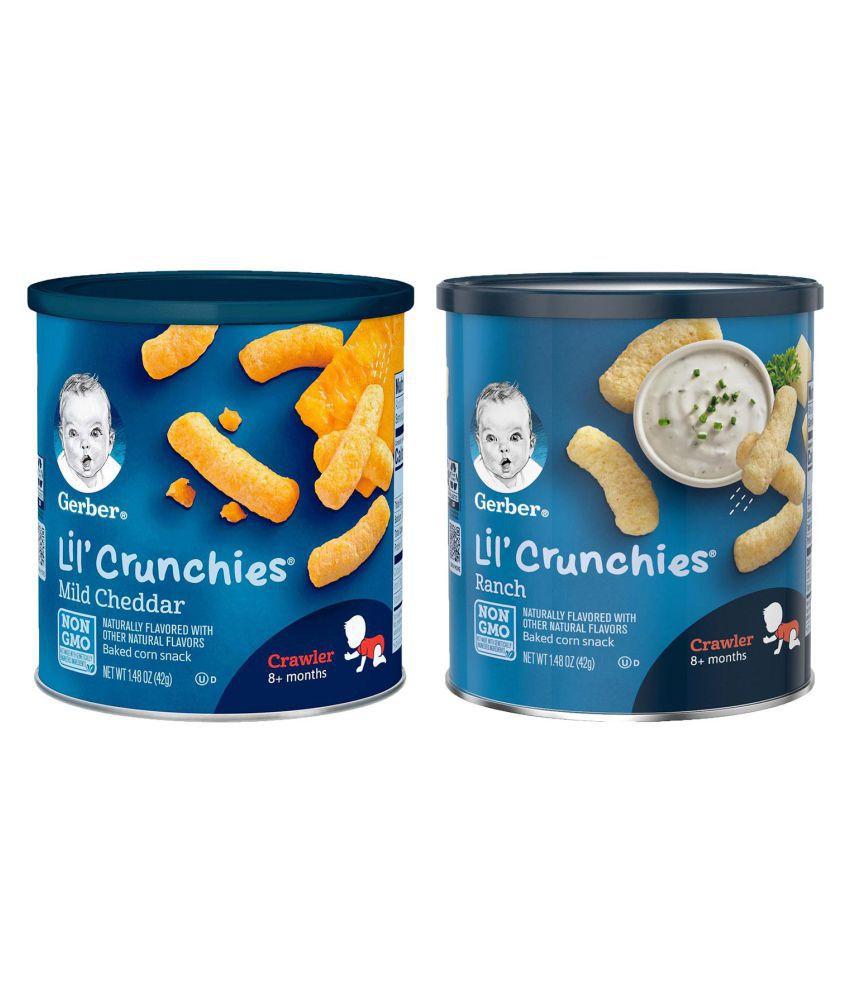 Gerber Mild Cheddar + Ranch Snack Foods for Under 6 Months ( 84 gm ) Pack of 2