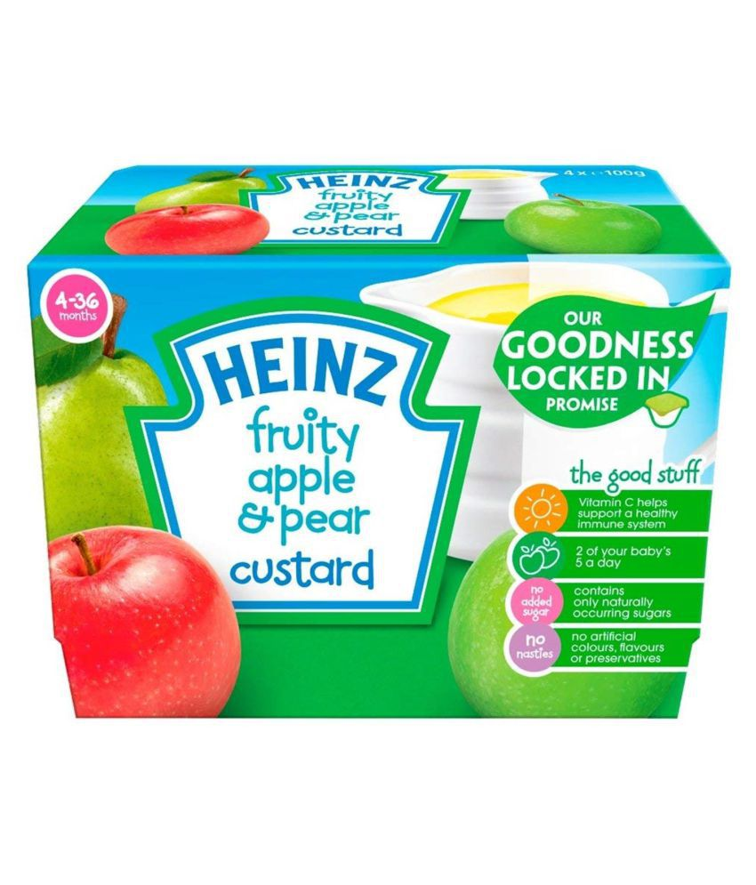 Heinz Fruity Apple & Pear Snack Foods for Under 6 Months ( 400 gm )