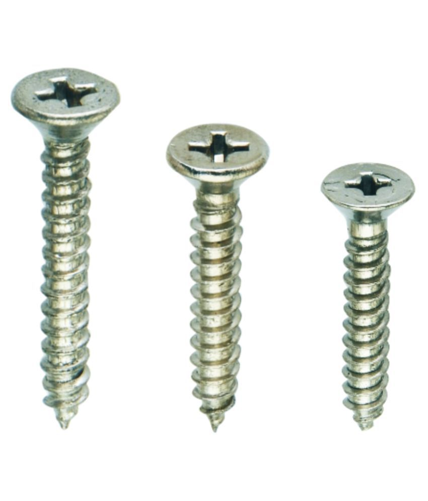 Spider Stainless Steel Self Taping CSK Slotted Phillips Screws (Size 4x16mm) (Pack of 700 Pcs Jar) (SSTP1C416)