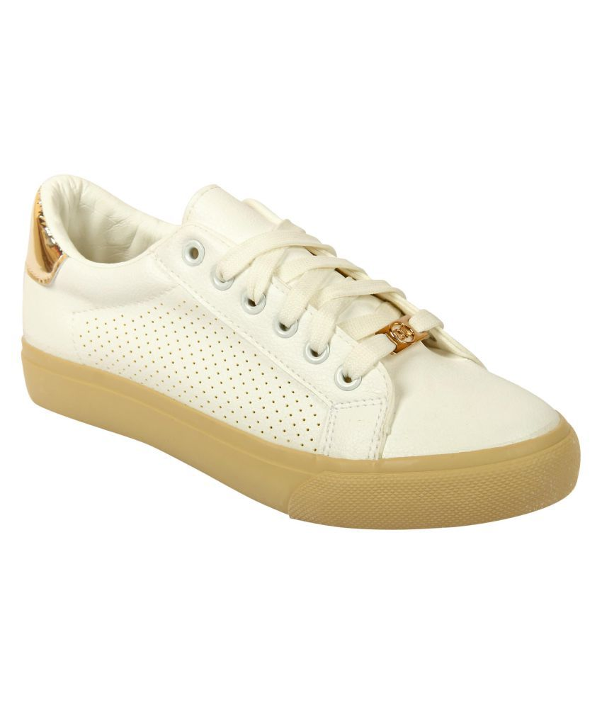 D SHOE LOUNGE Gold Casual Shoes