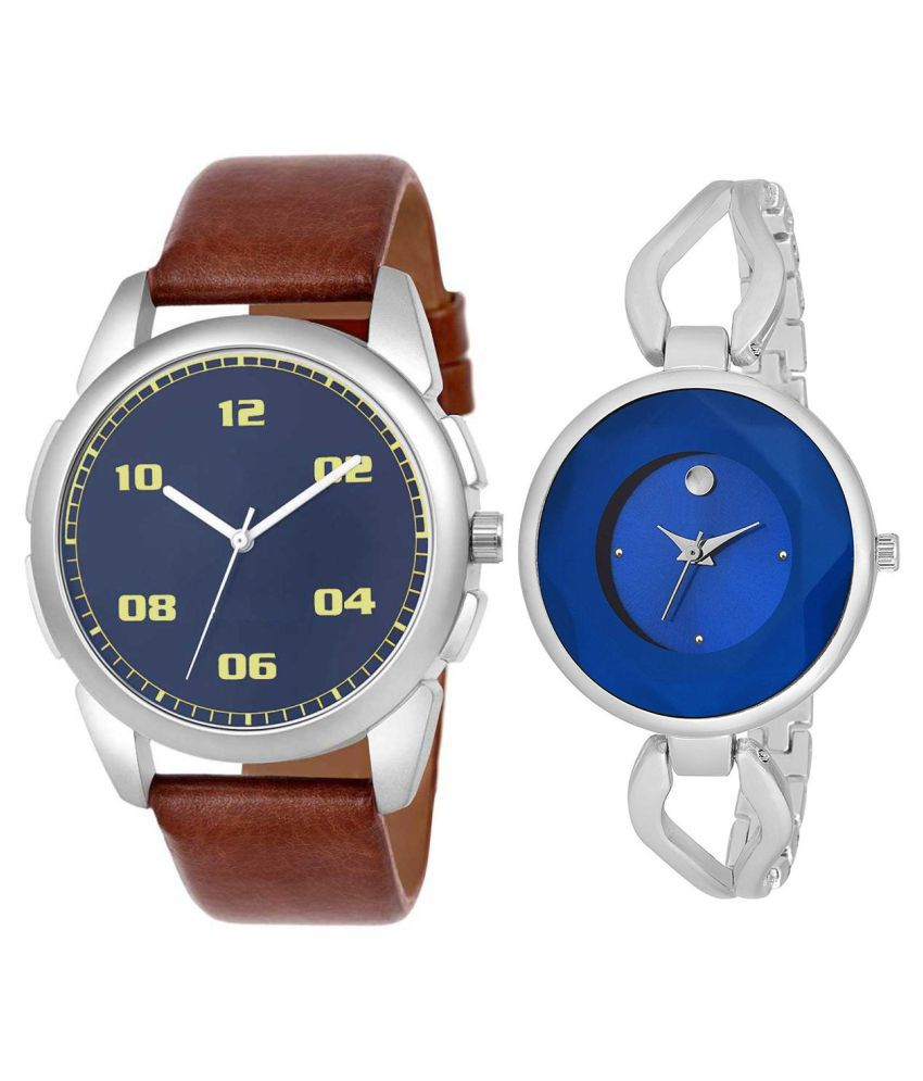 Vasant Impex Blue Dial  New Stylish Couple Watch For Men And Women 267