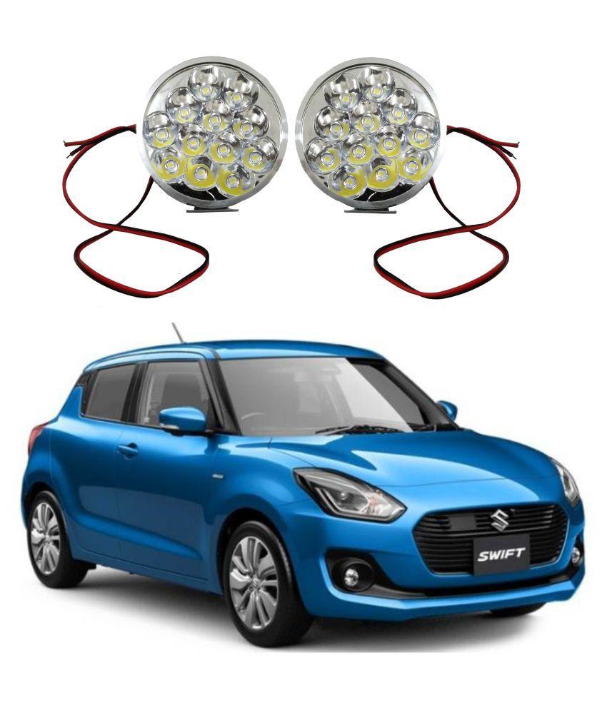 Trigcars Maruti Suzuki Swift 2018 LED Fog Lamp + Free Car Bluetooth