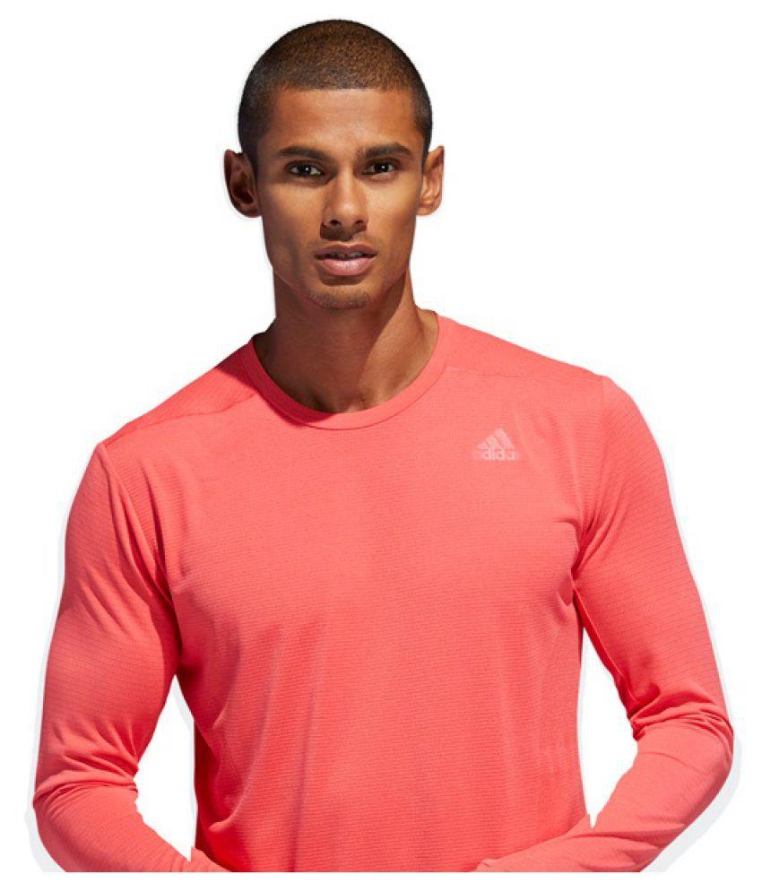Adidas Rough Red Cotton Blend T-Shirt