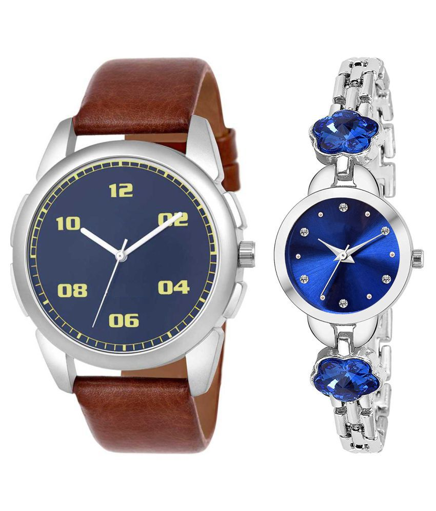 Vasant Impex Blue Dial  New Stylish Couple Watch For Men And Women 272
