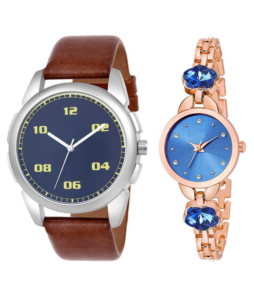 Vasant Impex Blue Dial  New Stylish Couple Watch For Men And Women 271
