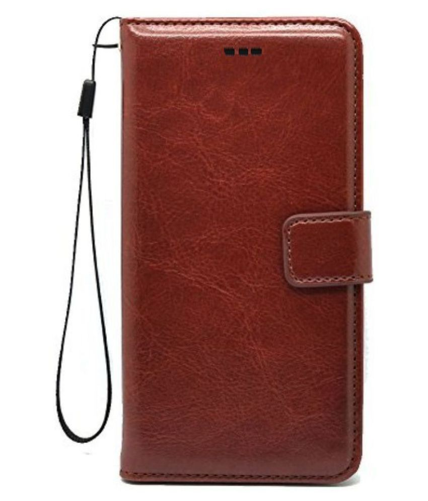 uk availability 10233 4ab5a Xiaomi Redmi Note 4 Flip Cover by ELEF - Brown