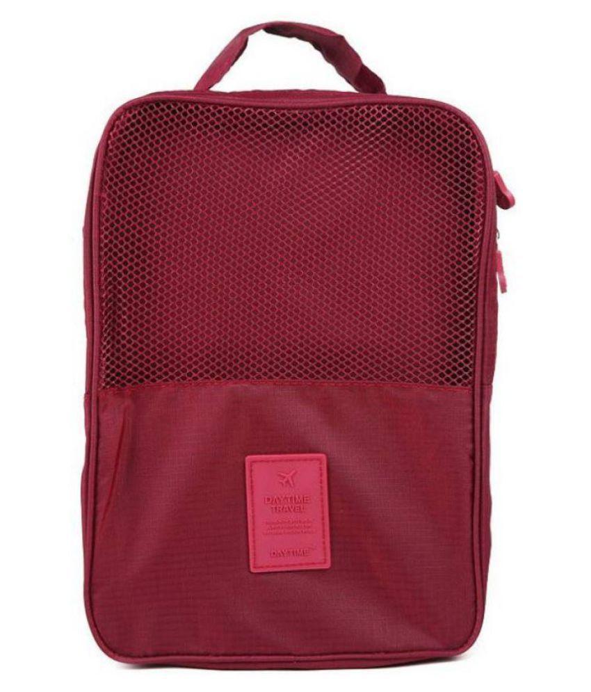 Everbuy Maroon Water Proof Shoe Storage Travel Tote Bag