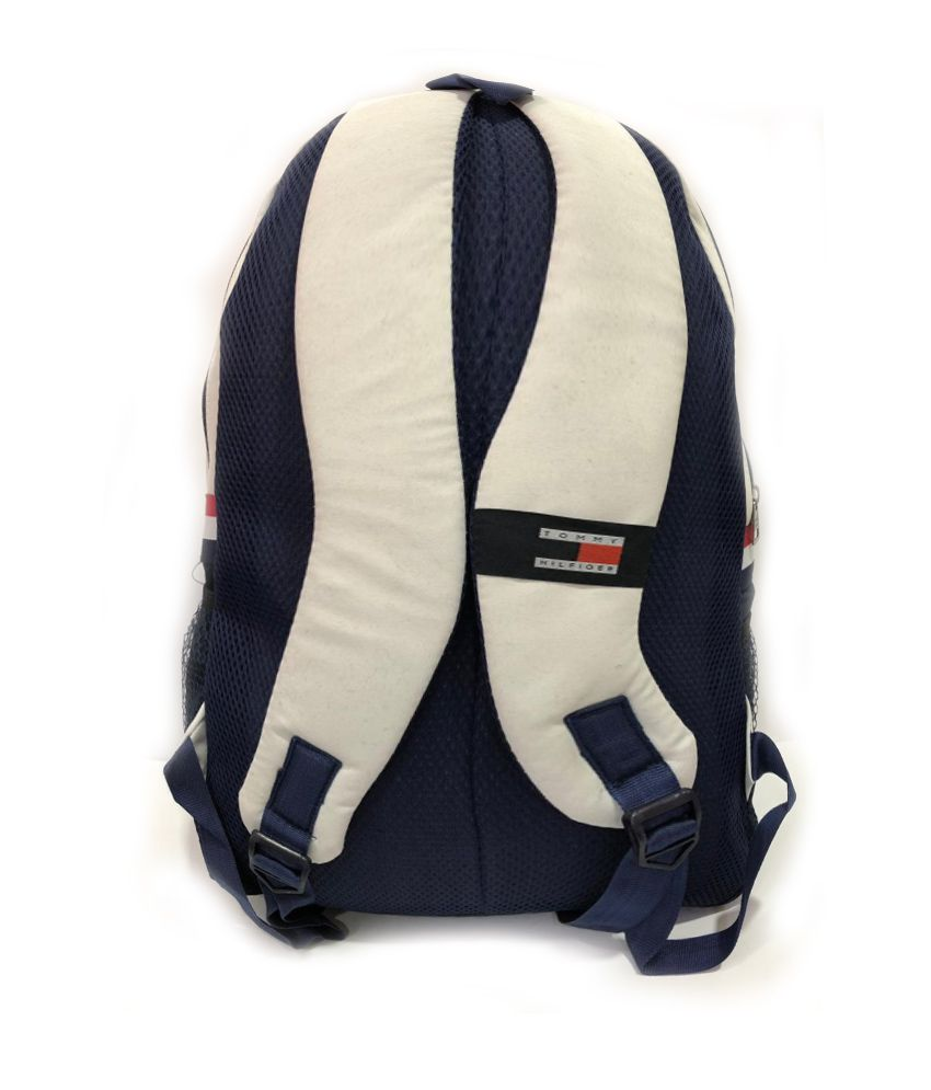 64e1ceea30a ... Tommy Hilfiger White Polyester College Bags Backpacks Gents Bag Carry  Bag Men- 22 Ltrs Tourist