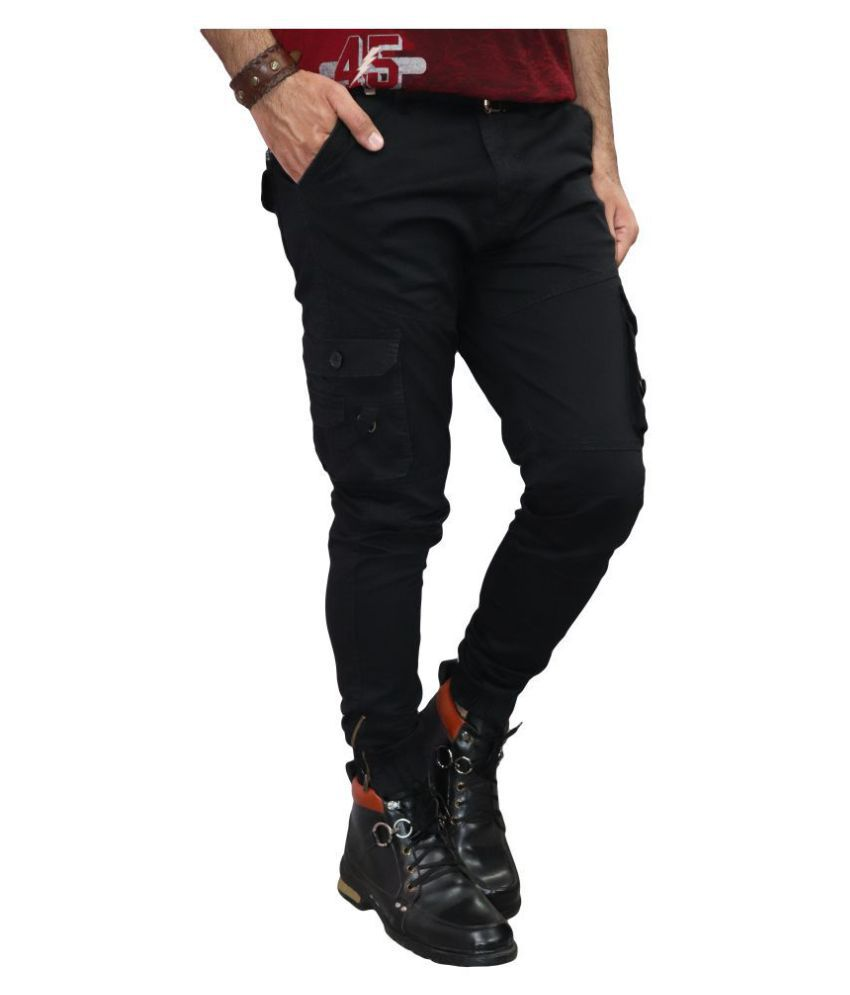 Urban Legends Black Regular -Fit Flat Cargos