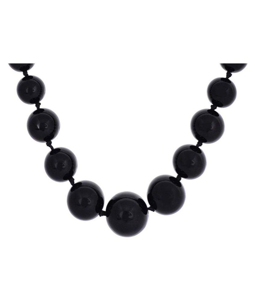 Black Colored Semi Precious Agate Stone Necklace