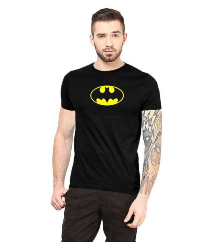 Gallop Black Half Sleeve T-Shirt