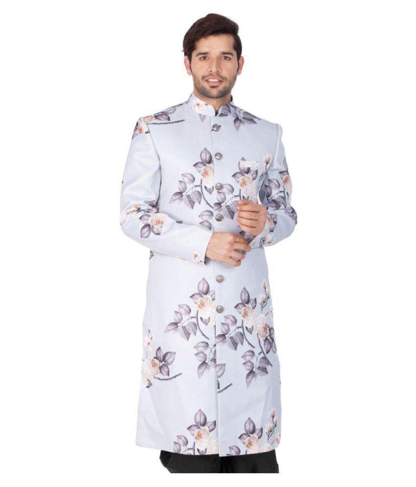 Vastramay Multi Cotton Blend Sherwani