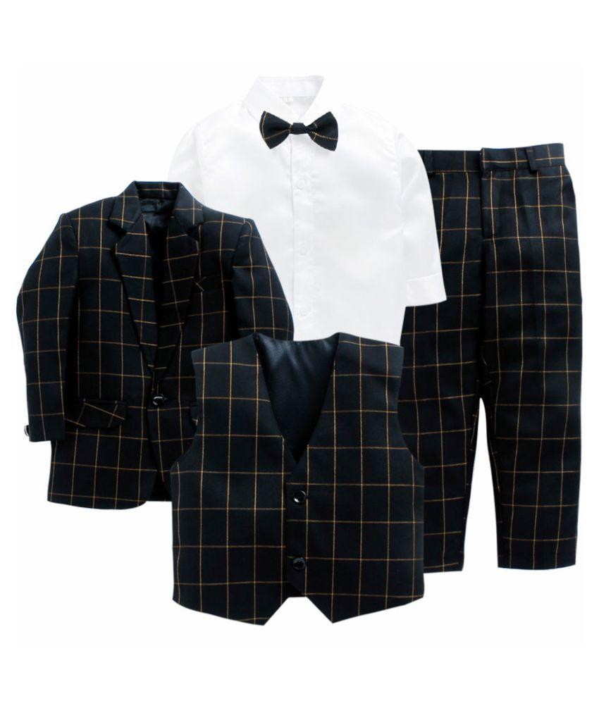Jeet Black Top &  Bottom Set For Boys