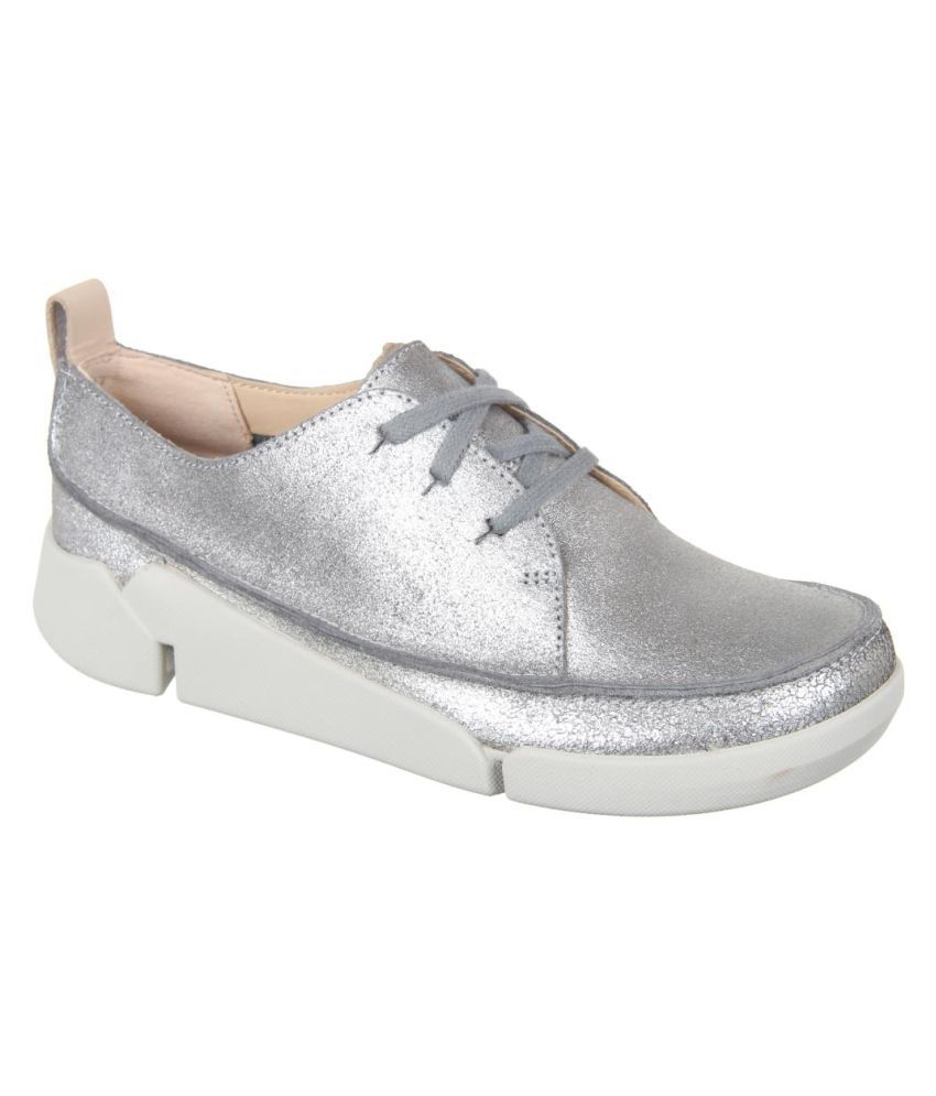 Clarks Silver Casual Shoes