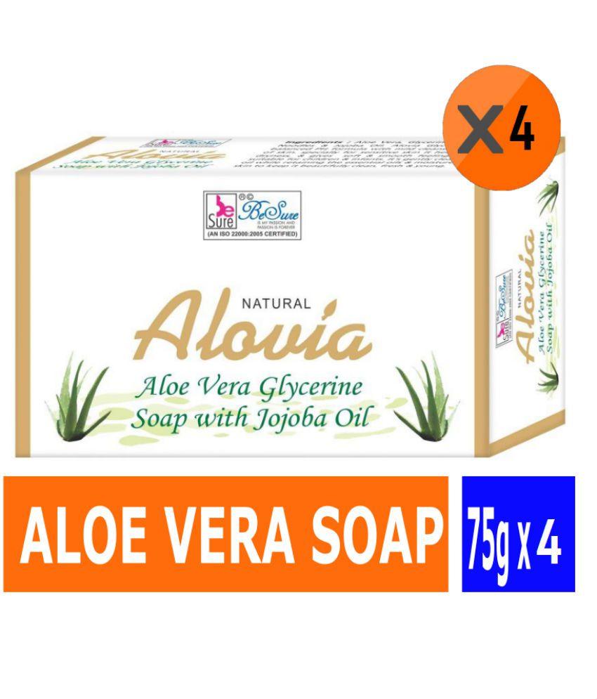 Besure Aloe Vera Soap - Pack Of 4 (75gm Each)